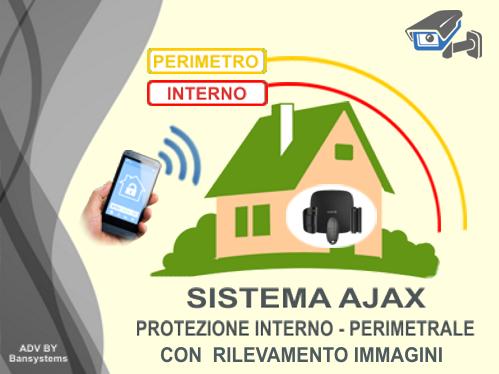 Allarmi antifurto Ajax perimetrale fotocamera Roma