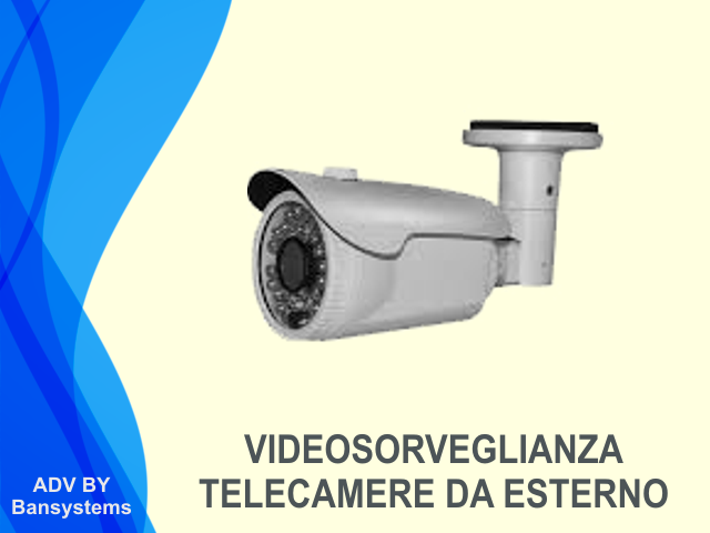 Videosorveglianza IP telecamere esterno