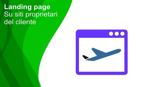 Landing page su sito del cliente