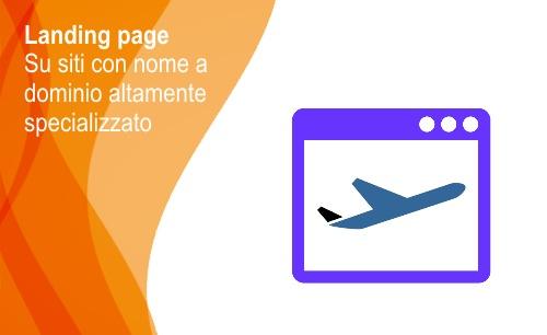 Landing page su sito specializzato